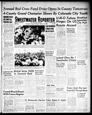 Primary view of object titled 'Sweetwater Reporter (Sweetwater, Tex.), Vol. 49, No. 49, Ed. 1 Wednesday, February 27, 1946'.