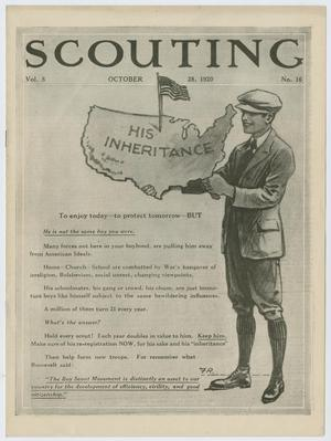 Primary view of object titled 'Scouting, Volume 8, Number 16, October 28, 1920'.