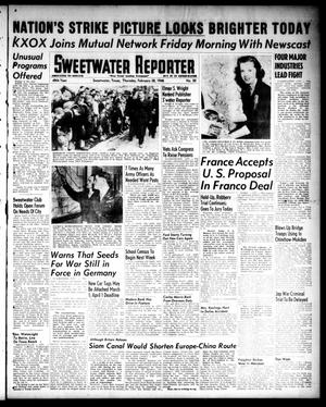 Primary view of object titled 'Sweetwater Reporter (Sweetwater, Tex.), Vol. 49, No. 50, Ed. 1 Thursday, February 28, 1946'.