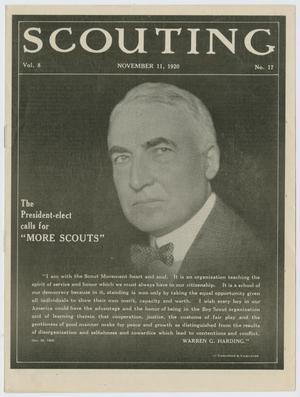 Primary view of object titled 'Scouting, Volume 8, Number 17, November 11, 1920'.
