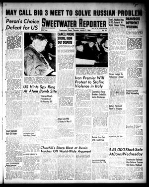 Primary view of object titled 'Sweetwater Reporter (Sweetwater, Tex.), Vol. 49, No. 56, Ed. 1 Thursday, March 7, 1946'.