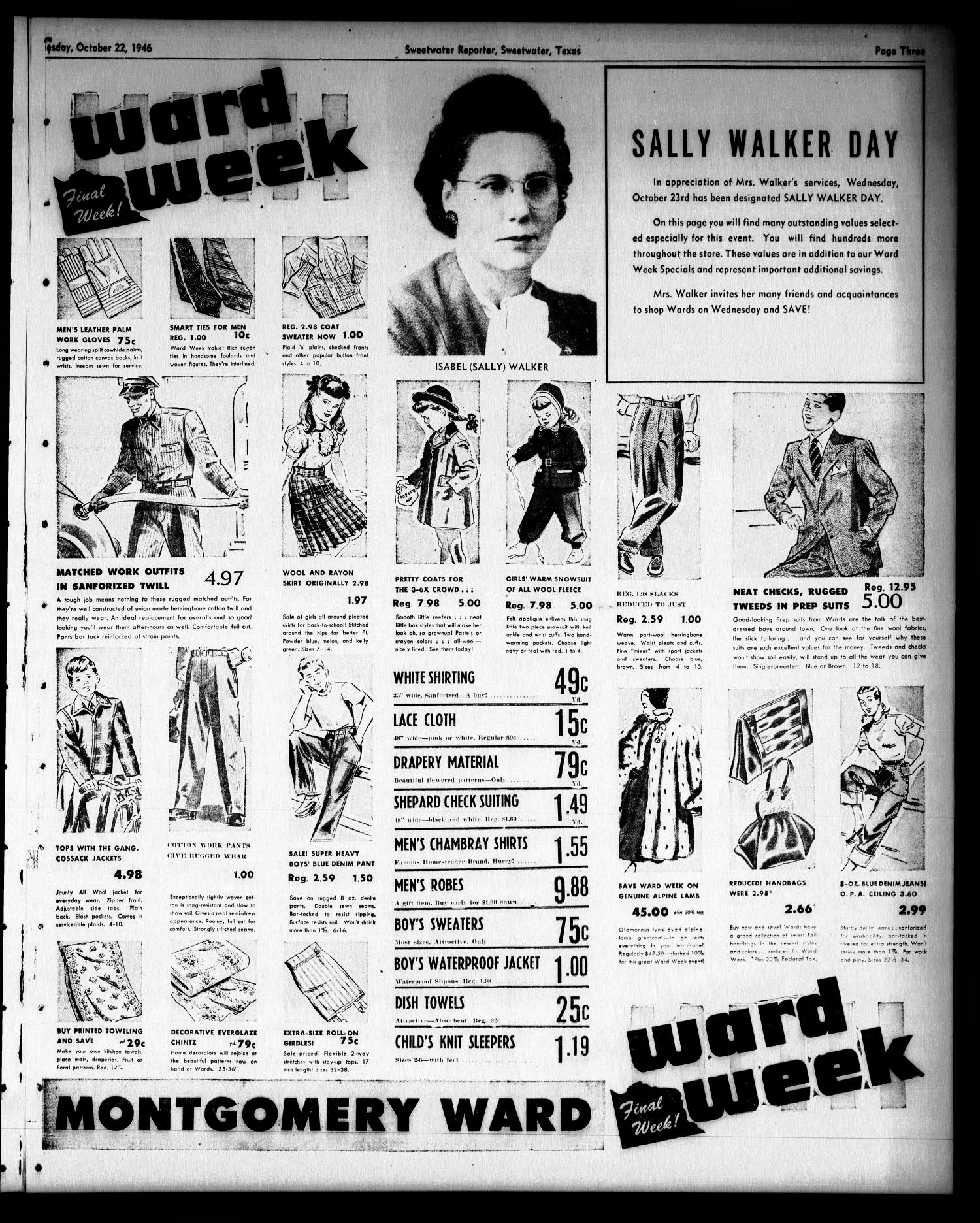 Sweetwater Reporter (Sweetwater, Tex.), Vol. 49, No. 250, Ed. 1 Tuesday, October 22, 1946                                                                                                      [Sequence #]: 3 of 6