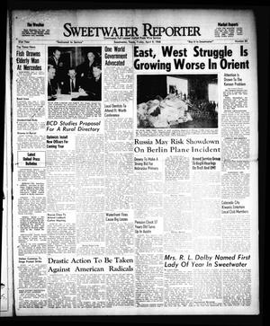 Primary view of object titled 'Sweetwater Reporter (Sweetwater, Tex.), Vol. 51, No. 85, Ed. 1 Friday, April 9, 1948'.