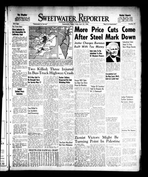 Primary view of object titled 'Sweetwater Reporter (Sweetwater, Tex.), Vol. 51, No. 97, Ed. 1 Friday, April 23, 1948'.