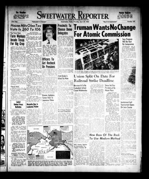Sweetwater Reporter (Sweetwater, Tex.), Vol. 51, No. 102, Ed. 1 Thursday, April 29, 1948
