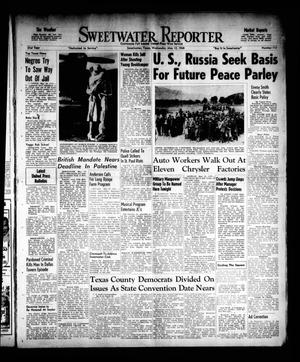 Primary view of object titled 'Sweetwater Reporter (Sweetwater, Tex.), Vol. 51, No. 113, Ed. 1 Wednesday, May 12, 1948'.