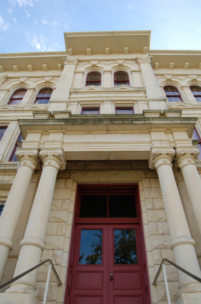 Milam County Courthouse, detail of entry                                                                                                      [Sequence #]: 1 of 1