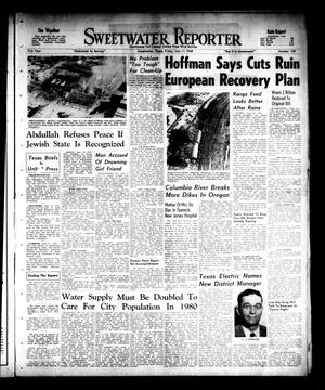 Primary view of object titled 'Sweetwater Reporter (Sweetwater, Tex.), Vol. 51, No. 139, Ed. 1 Friday, June 11, 1948'.