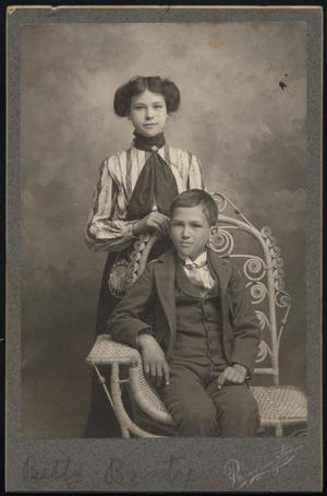 Primary view of object titled '[Photograph of Betty and Unknown Boy]'.