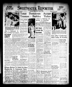 Primary view of object titled 'Sweetwater Reporter (Sweetwater, Tex.), Vol. 51, No. 189, Ed. 1 Monday, August 9, 1948'.