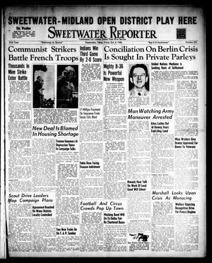 Primary view of object titled 'Sweetwater Reporter (Sweetwater, Tex.), Vol. 51, No. 241, Ed. 1 Friday, October 8, 1948'.
