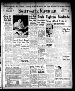 Primary view of object titled 'Sweetwater Reporter (Sweetwater, Tex.), Vol. 51, No. 250, Ed. 1 Tuesday, October 19, 1948'.