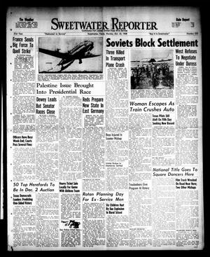 Primary view of object titled 'Sweetwater Reporter (Sweetwater, Tex.), Vol. 51, No. 255, Ed. 1 Monday, October 25, 1948'.