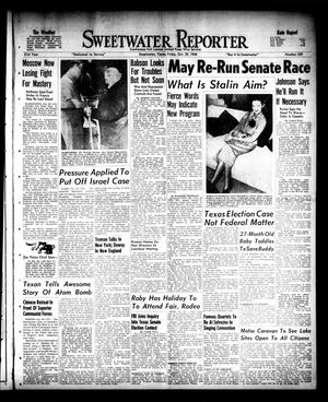 Primary view of object titled 'Sweetwater Reporter (Sweetwater, Tex.), Vol. 51, No. 259, Ed. 1 Friday, October 29, 1948'.
