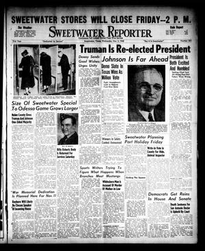 Primary view of object titled 'Sweetwater Reporter (Sweetwater, Tex.), Vol. 51, No. 263, Ed. 1 Wednesday, November 3, 1948'.
