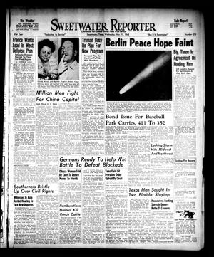 Primary view of object titled 'Sweetwater Reporter (Sweetwater, Tex.), Vol. 51, No. 275, Ed. 1 Wednesday, November 17, 1948'.