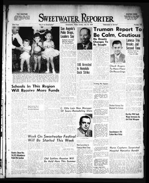 Primary view of object titled 'Sweetwater Reporter (Sweetwater, Tex.), Vol. 52, No. 162, Ed. 1 Sunday, July 10, 1949'.