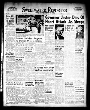 Primary view of object titled 'Sweetwater Reporter (Sweetwater, Tex.), Vol. 52, No. 163, Ed. 1 Monday, July 11, 1949'.