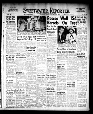 Primary view of object titled 'Sweetwater Reporter (Sweetwater, Tex.), Vol. 52, No. 189, Ed. 1 Wednesday, August 10, 1949'.