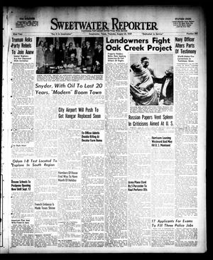 Primary view of object titled 'Sweetwater Reporter (Sweetwater, Tex.), Vol. 52, No. 202, Ed. 1 Thursday, August 25, 1949'.