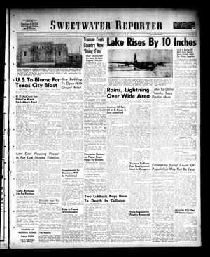 Primary view of object titled 'Sweetwater Reporter (Sweetwater, Tex.), Vol. 53, No. 88, Ed. 1 Thursday, April 13, 1950'.
