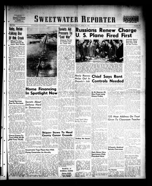 Primary view of object titled 'Sweetwater Reporter (Sweetwater, Tex.), Vol. 53, No. 95, Ed. 1 Friday, April 21, 1950'.