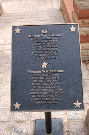 Primary view of object titled 'Fayette County Korean and Vietnam Veterans plaque'.
