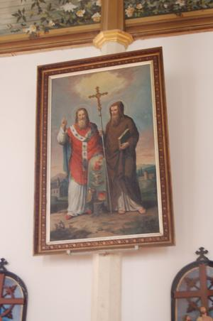 Primary view of object titled 'St. Mary's Church of the Assumption, painting of two saints'.