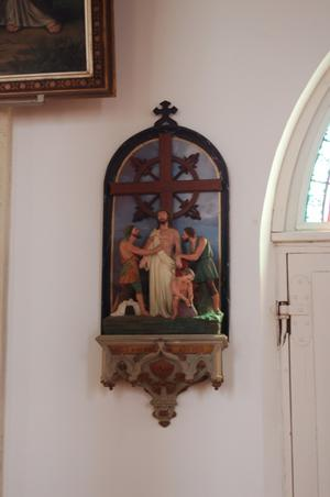 Primary view of object titled 'St. Mary's Church of the Assumption, crucifixion artwork'.