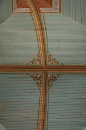 Primary view of object titled 'St. Mary's Church of the Assumption, interior ceiling detail'.