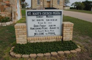 Primary view of object titled 'St. Mary's Church of the Assumption sign'.