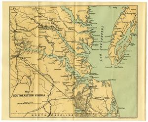 Map of Southeastern Virginia