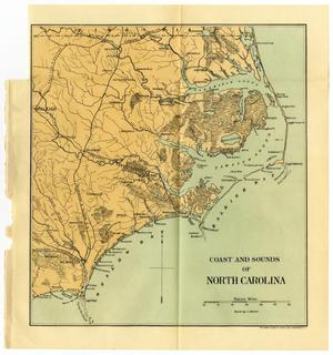 Primary view of object titled 'Coasts and Sounds of North Carolina'.