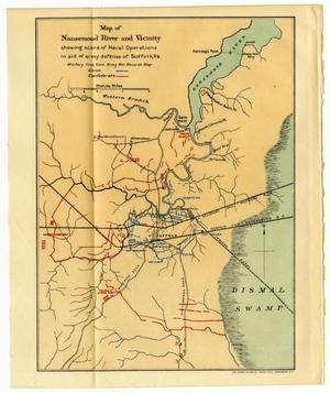 Primary view of object titled 'Map of Nansemond River and Vicinity'.