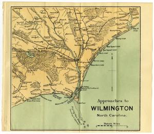 Primary view of object titled 'Approaches to Wilmington North Carolina.'.