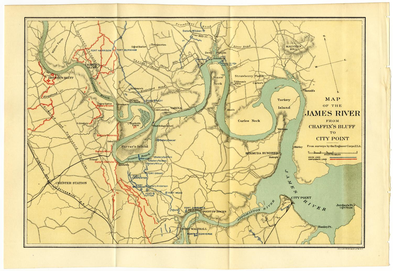 Map of the James River from Chaffin's Bluff to City Point                                                                                                      [Sequence #]: 1 of 2