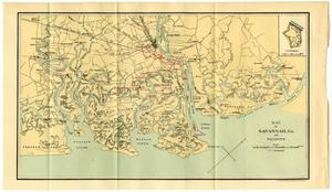 Primary view of object titled 'Map of Savannah, Georgia, and Vicinity'.