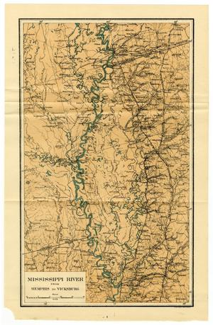 Primary view of object titled 'Mississippi River From Memphis to Vicksburg'.