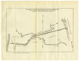 Primary view of object titled 'Topography of a Canal Connecting Walnut Bayou with the Mississippi River.'.