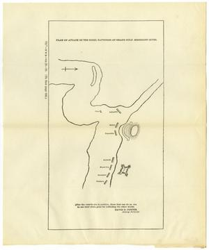 Plan of Attack on the Rebel Batteries at Grand Gulf, Mississippi River.