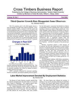 Cross Timbers Business Report, Volume 18, Number 1, Fall 2004