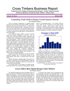Primary view of object titled 'Cross Timbers Business Report, Volume 18, Number 2, Winter 2005'.