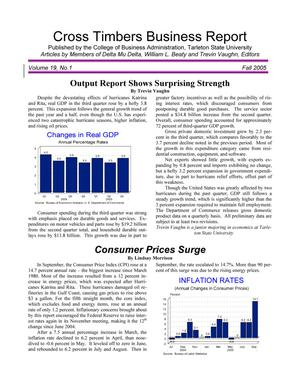 Primary view of object titled 'Cross Timbers Business Report, Volume 19, Number 1, Fall 2005'.