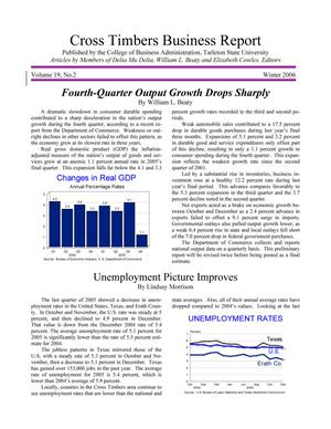 Primary view of object titled 'Cross Timbers Business Report, Volume 19, Number 2, Winter 2006'.