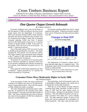 Primary view of Cross Timbers Business Report, Volume 19, Number 3, Spring 2006