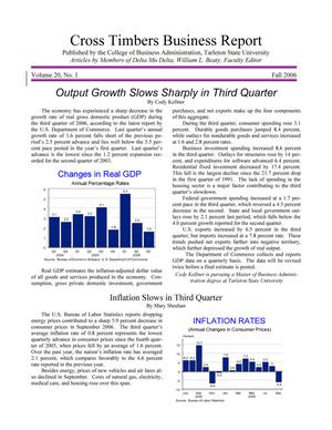 Primary view of Cross Timbers Business Report, Volume 20, Number 1, Fall 2006