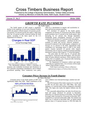 Primary view of object titled 'Cross Timbers Business Report, Volume 21, Number 2, Winter 2008'.