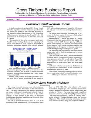 Cross Timbers Business Report, Volume 21, Number 3, Spring 2008