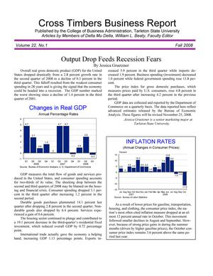 Cross Timbers Business Report, Volume 22, Number 1, Fall 2008