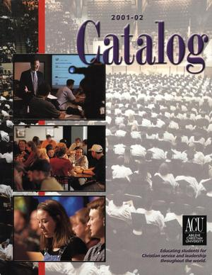 Primary view of object titled 'Catalog of Abilene Christian University, 2001-2002'.